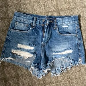 Blank NYC high rise shorts